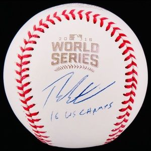 Theo Epstein Chicago Cubs World Series Autograph